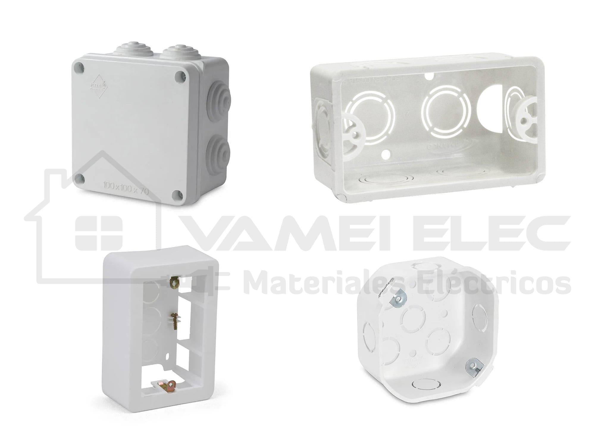 VAMEI Elec - Cajas y Caños - Cajas PVC